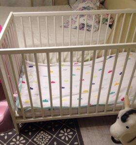 Детская кроватка из икеа Гулливер.