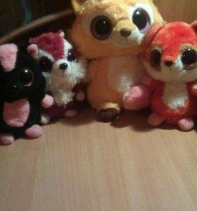 Мягкие игрушки пучиглазики