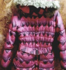 Пальто для девочки 8-11 лет