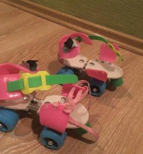 Ролики четырехколесные детские раздвижные