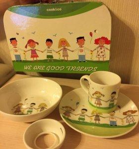 Набор посуды для ребёнка в чемоданчике
