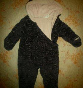 Комбинезон детский утепленный, 75-80 см.