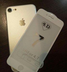 защитное стекло айфон 7