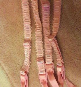 Застежки на чулки, розовые