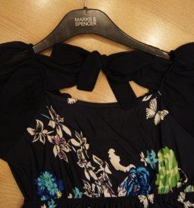 Платье свободного кроя нарядное(можно беременным)