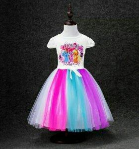 """Платье для девочки """" My little pony"""""""