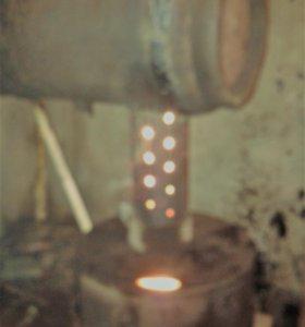 Печь на отработанном масле для гаража