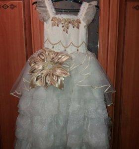 Шикарное нарядное платье на девочку