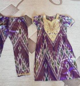 Женский узбекский костюм 3,ручной работы