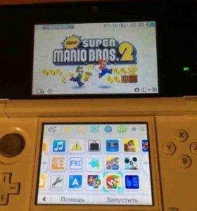 Nintendo 3ds прошитая + две флешки по 4Gb