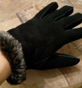 Перчатки женские нат.замша и нат.мех