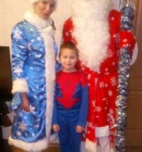 Дед Мороз и внучка Снегурочка