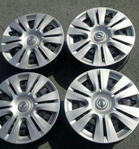 Комплект штампованных дисков Ниссан