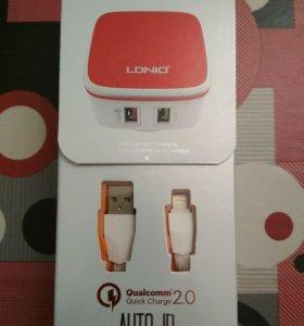 Быстрое зарядное устройство LDNIO Qualcomm 2.0