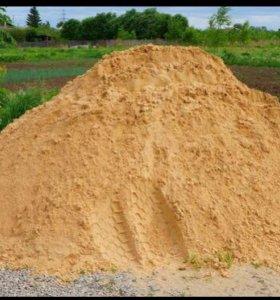 Доставка песка, чернозема.