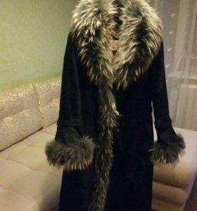 Пальто зимнее кролик