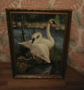 "Картина ""Лебеди"""