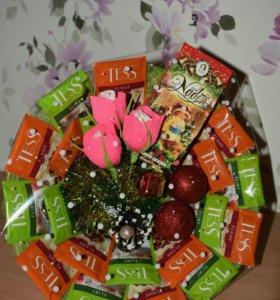 """Подарки!!Букет из чая """"Новогодний"""""""