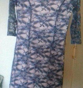 Гипюровое платье р 42