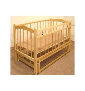 Кровать детская на маятниках.