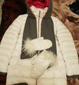 Куртка женская пуховик в хорошем состоянии