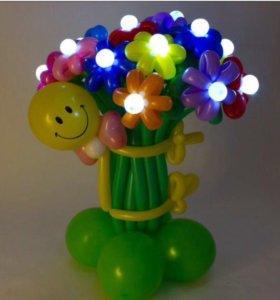 Светящийся букет цветов