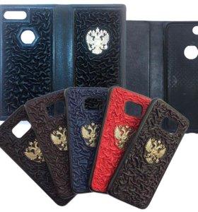 Чехлы на телефоны, накладки натуральная кожа