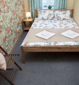 Кровать из массива сосны под матрас 2000х1400мм