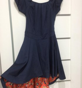 Платье синие S