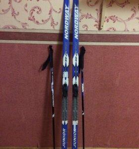 Беговые лыжи Nordway junior с чехлом