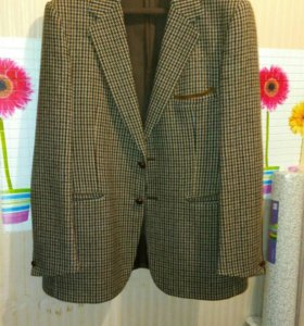 Новый Шерстяной пиджак 54 размер
