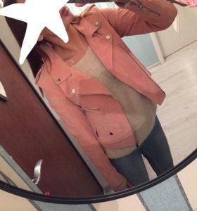 Новая замшевая куртка Zara оригинал