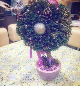 Топиарий, дерево счастья, поделка в детский сад