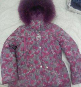 Куртка зимняя для девочки 7-10 лет