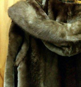 Шуба из натурального меха (норка - мутон)
