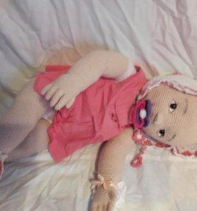 Новая вязанная кукла 62 см