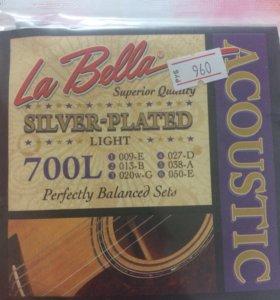 Струны для акустической гитары la bella