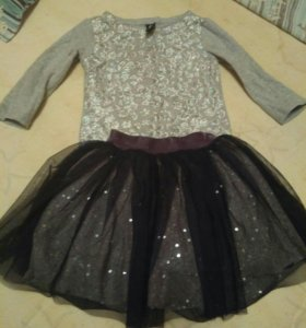 Комплект юбка и футболка размер 104-110