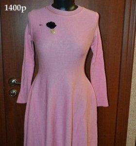 розовое новое платье