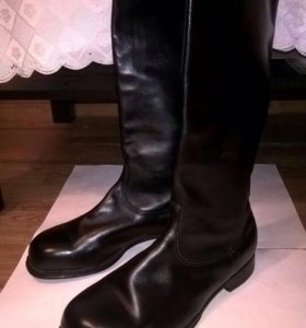 Сапоги кожаные офицерские хромовые. Для байкеров