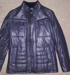 Мужская зимняя кожаная куртка Al Franco (новая)
