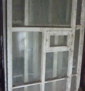 Продам Окна деревянные без коробок, б/у, норм.сост