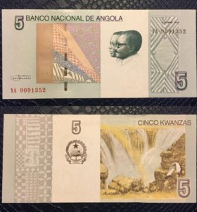 Банкнота 5 кванз, Ангола, 2012г, UNC