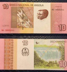 Банкнота 10 кванз, Ангола, 2012г, UNC