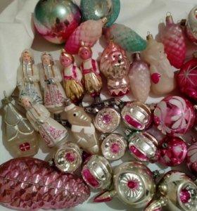 Елочные игрушки СССР 45шт