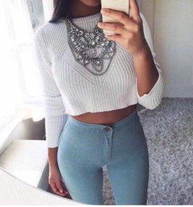 Женские джинсы с высокой посадкой(новые)М