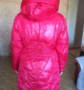 Пальто зимнее пуховое, очень тёплое