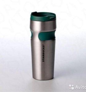 Нержавеющий тамблер Сталь от Starbucks 473мл