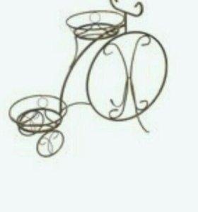 """Подставка """"Велосипед"""" для 2 цветков"""