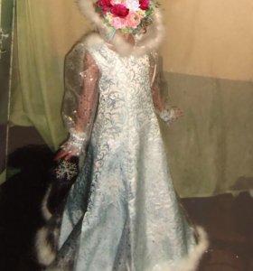 Новогодний костюм-платье «Снежная королева «